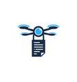 document drone logo icon design vector image