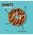 donut tasty sweet graphic vector image vector image