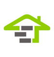 eco home building vector image