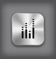 Equalizer icon - metal app button vector image vector image