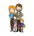 family portrait mom and dad with childrens vector image vector image
