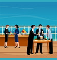 flat colored business lunch people vector image vector image