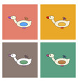 flat icon design collection kids duck automatic vector image vector image