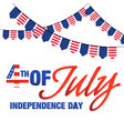 fourth of july independence day united stated flag vector image