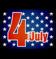 fourth of july sticker vector image vector image