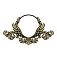 frame with vintage pattern and angel wings