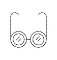 glasses medical optic frame lens icon vector image vector image