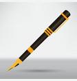 golden pen vector image