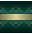 Green gold floral seamless pattern background vector image vector image
