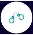 Handcuffs computer symbol vector image vector image