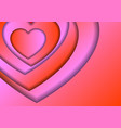 heart love symbol for valentines day from red and vector image vector image