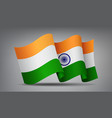 india waving flag icon isolated official symbol vector image