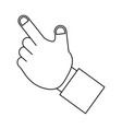 isolated human hand vector image vector image