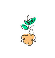 line icon sprout gardening vector image vector image
