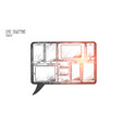 live chatting concept hand drawn isolated vector image vector image