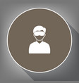 man with sleeping mask sign white icon on vector image vector image