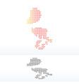 Map of Macau SAR China with Dot Pattern vector image vector image