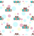 mini boss seamless pattern vector image vector image