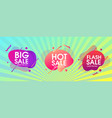 modern abstract banner with hot sale design set vector image vector image