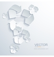 modern recycle background vector image vector image