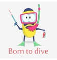 monster diver character design vector image vector image