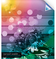 music background with dj and floral vector image vector image