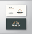 old key abstract sign or logo and vector image vector image