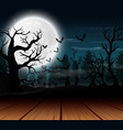 outdoor view with the full moon background in hall vector image