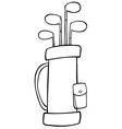 Outlined Golf Bag vector image vector image