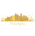 Philadelphia City skyline golden silhouette vector image vector image