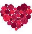 Rose Heart Isolated on White Background vector image vector image