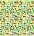 seamless background cartoon countryside scene vector image vector image