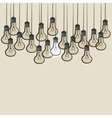 sketch lightbulb background vector image vector image