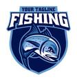 sport logo giant trevally fishing vector image vector image