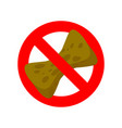 stop old sponge it is forbidden to use sponge for vector image vector image