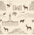 travel seamless pattern scotland background vector image vector image