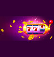 trendy casino with slot machine and coins vector image