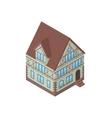 Tudor style house vector image vector image