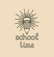 vintage back to school label retro sign vector image vector image