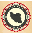 vintage label-sticker cards iran vector image