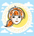 woman face human head character beautiful vector image