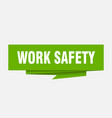 work safety vector image vector image