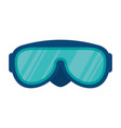 swimming googles isolated icon vector image