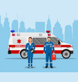 ambulance medical service first aid concept vector image