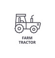 farm tractor line icon outline sign linear vector image