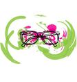 Abstract Eyeglasses vector image