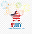 4th of july - abstract flag design - independence vector image vector image