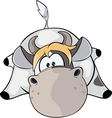 A small cow vector image vector image