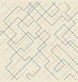 abstract geometric pattern thin linear square vector image vector image