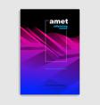abstract line art minimal contemporary brochure vector image vector image